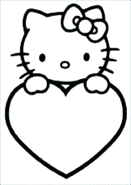 499x700 Hellokitty Drawing How To Draw Hello Kitty Love Heart With Wings