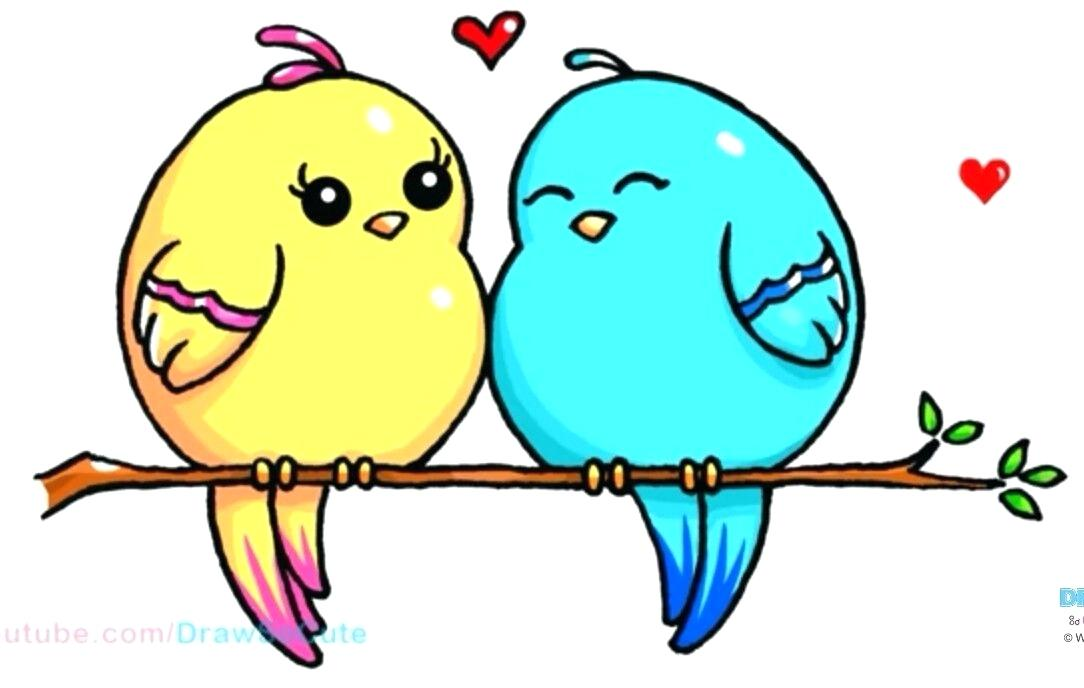 1084x688 love bird drawing love bird drawing love birds drawing photos