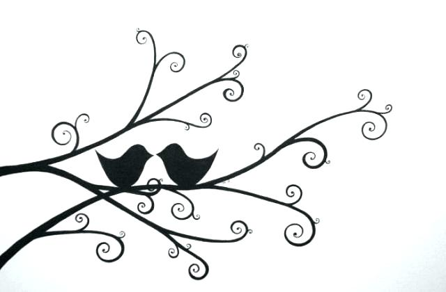 640x420 Simple Bird Drawing Bird Drawing Step