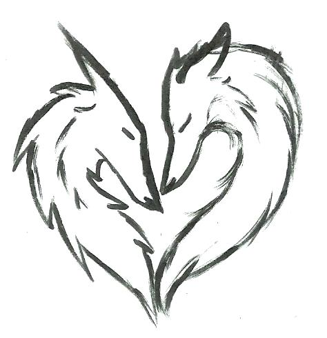 474x490 Drawings Of Animals Wolf Love