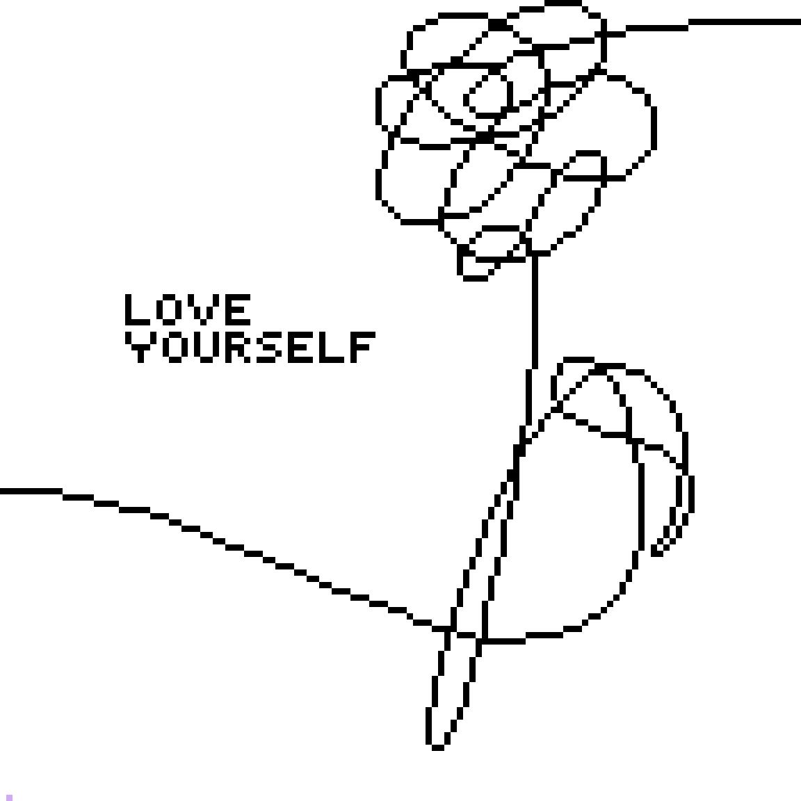 Love Flower Drawing