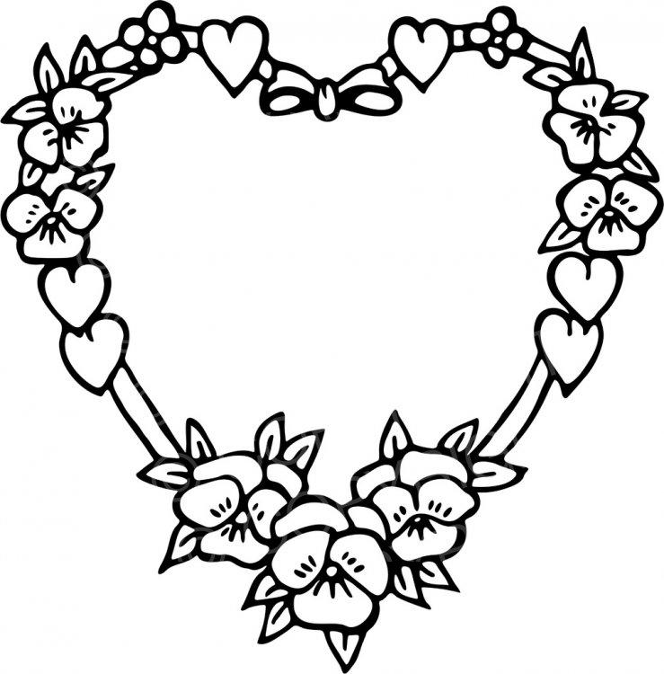 739x750 Heart Clip Art Line Drawing
