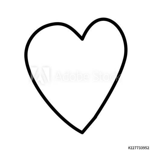 500x500 Cute Heart Love Drawing