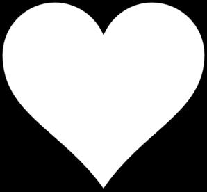 298x276 Heart Outline Clip Art