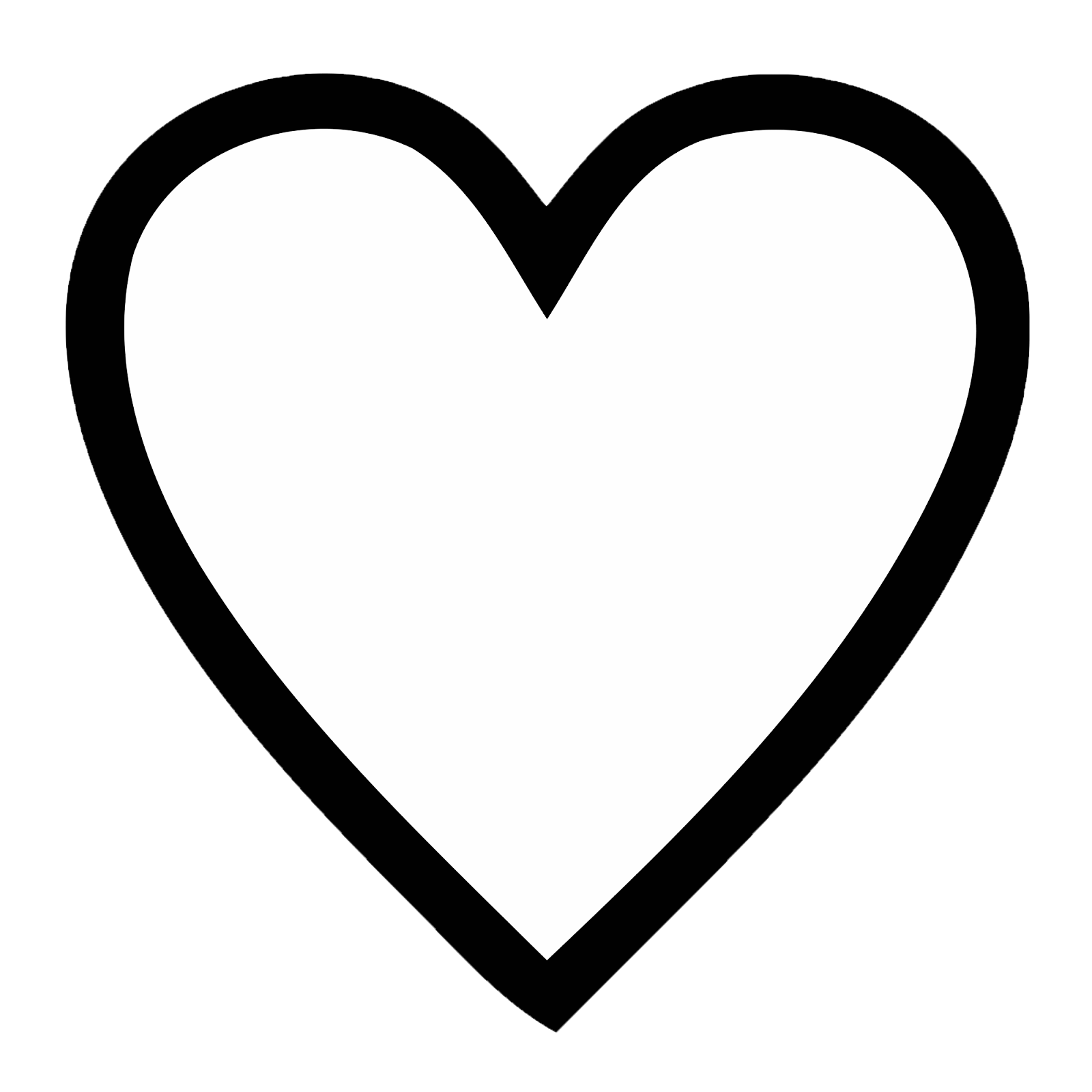 1600x1600 Huge Collection Of 'line Drawing Of Heart' Download More Than