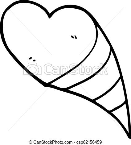 425x470 Line Drawing Cartoon Love Hearts