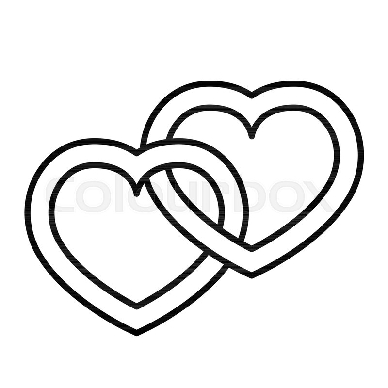 800x800 Love Thin Line Icon Connected Hearts Stock Vector Colourbox