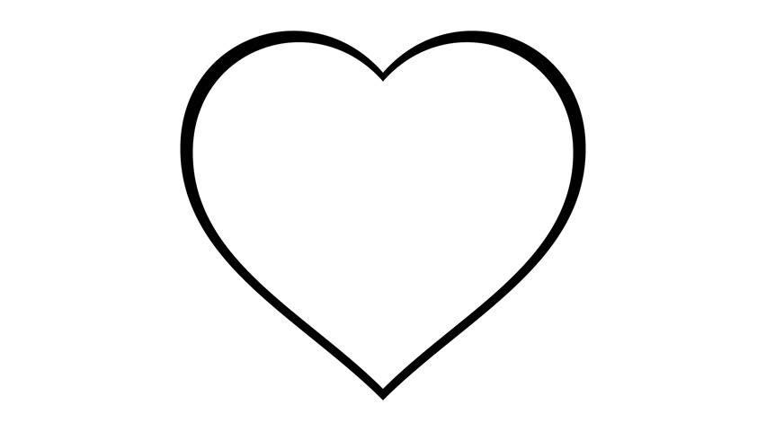 852x480 Throbbing Love Heart Beating Animation Stock Footage Video