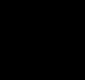 300x282 Black Line Heart Clipart