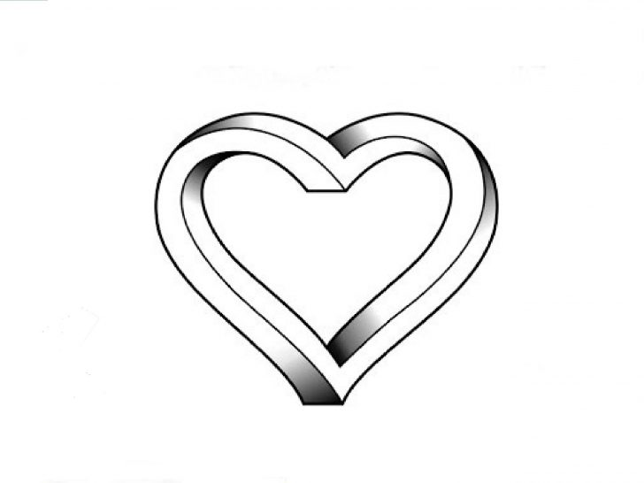 728x546 Heart Drawing Tutorial Effect For Love Images Line Iydunetwork