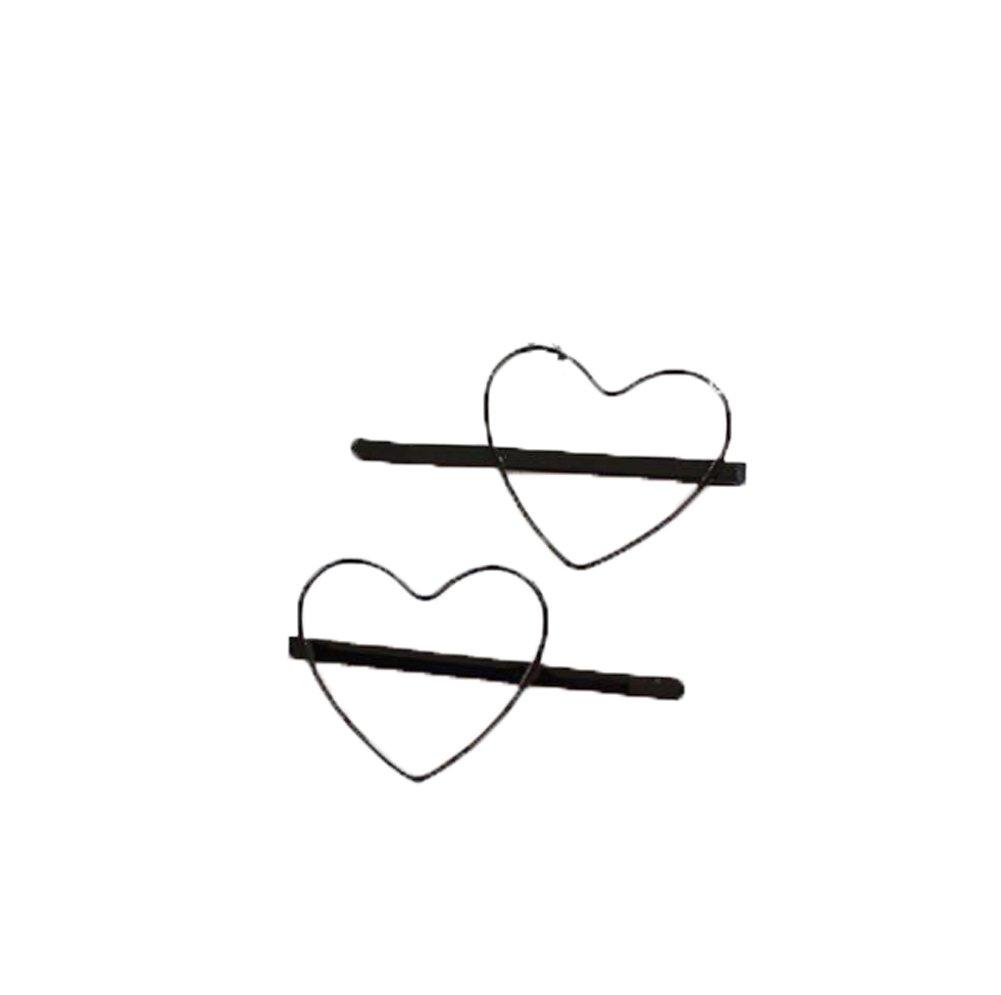 1001x995 pairs colord hollow love heart bobby pins hair pins