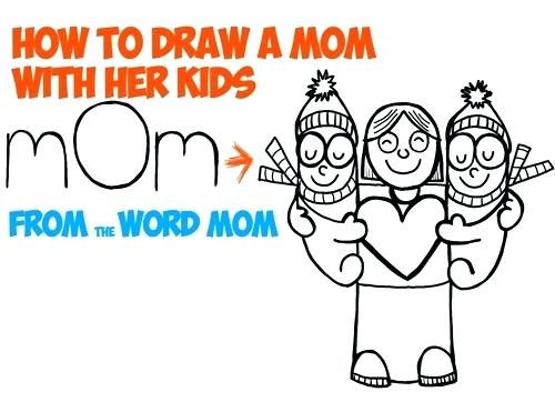 500x371 how to draw a mom draw mom hug grandmother with love for draw