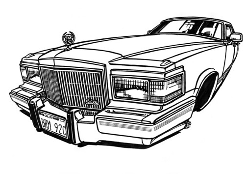 500x354 drawn vehicle lowrider pencil and in color drawn vehicle