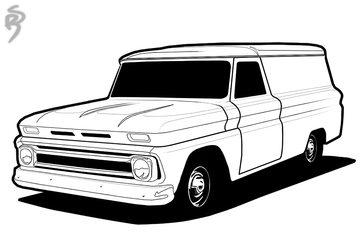 Lowrider Truck Drawings | Free download on ClipArtMag