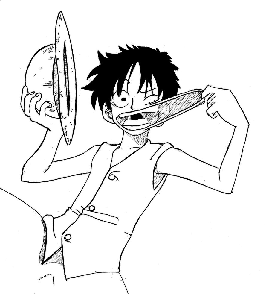 Luffy Drawing Free Download Best Luffy Drawing On