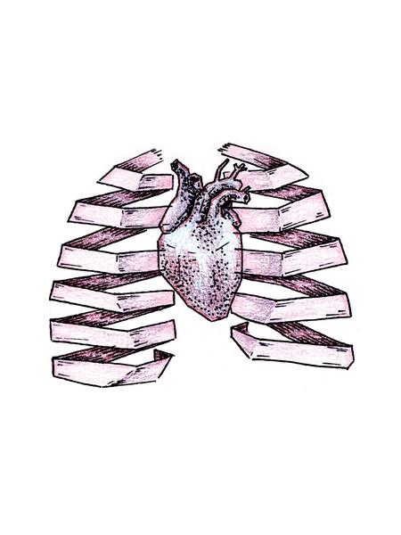 450x600 Frozen Heart, Paper Lungs