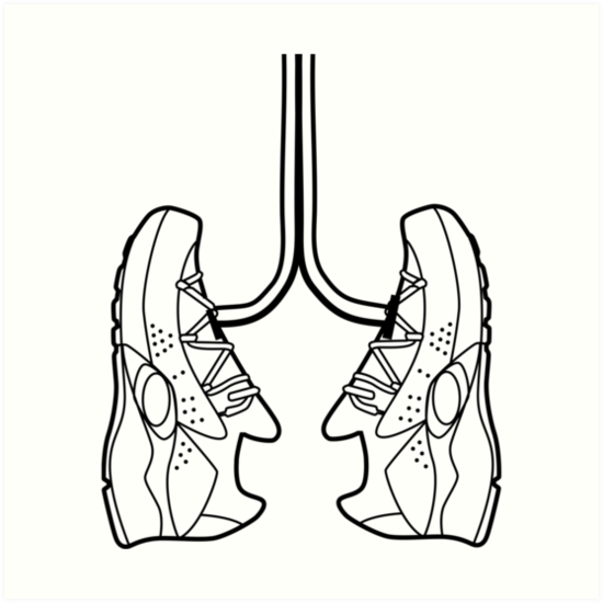 550x550 Running Shoe Lungs Art Prints