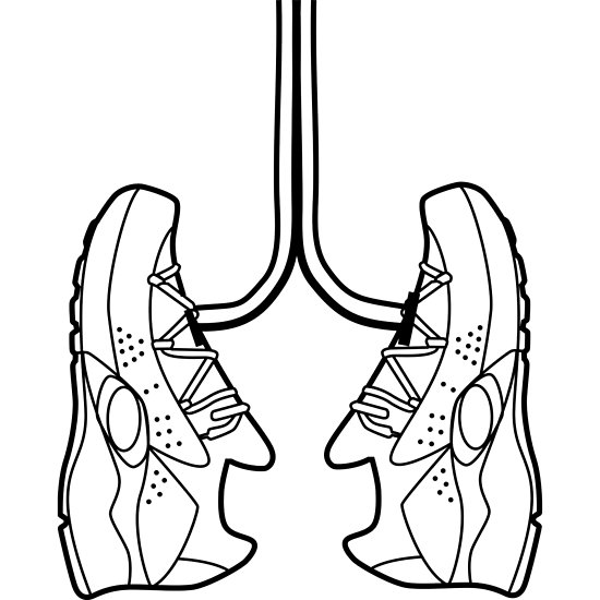 550x550 Running Shoe Lungs Posters