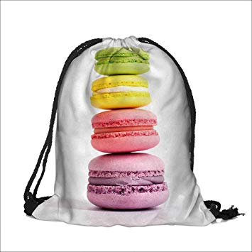355x355 Draw Pocket Polyester Backpack Machu Picchu An Over