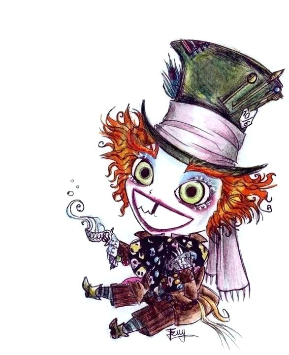 587x720 mad hatter drawings mad hatters hat drawing