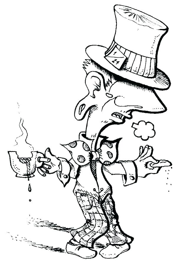 600x900 mad hatter coloring pages mad hatter outline mad hatter colouring