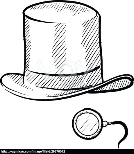 461x530 mad hatter hat coloring pages mad hatter hat outline colouring