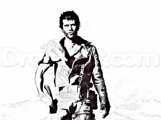 520x388 learn how to draw mad max, mad max, figures, people, free step