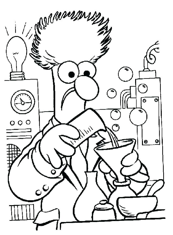 708x960 scientist coloring pages science coloring sheet scientist coloring