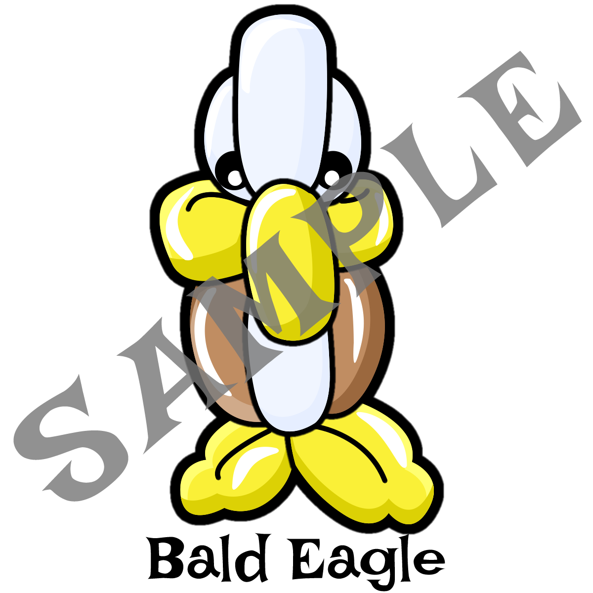 1200x1200 bald eagle twister sister balloon supplies