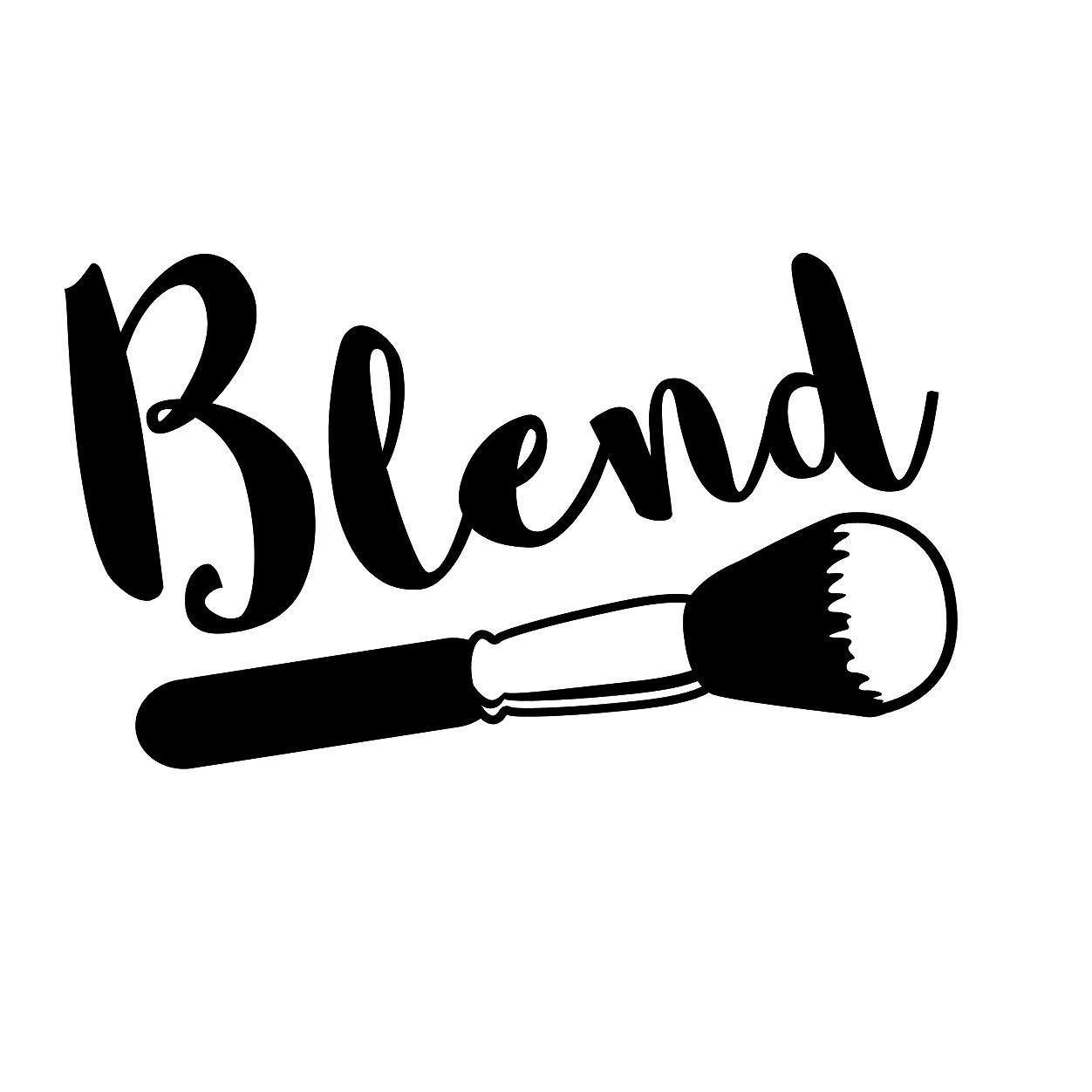 1252x1252 blend makeup artist brush vinyl decal vinyl hobby car bumper