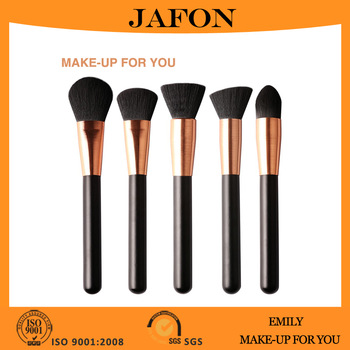 350x350 Rose Gold Vegan Makeup Brushes Sets With Unique Wire Drawing