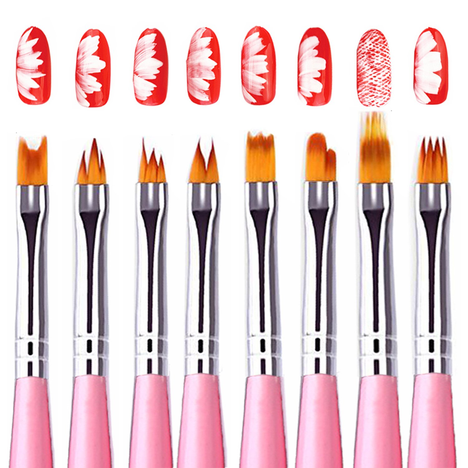 1500x1500 Kingtree Pcs Nail Art Brush Set, Gradient Acrylic
