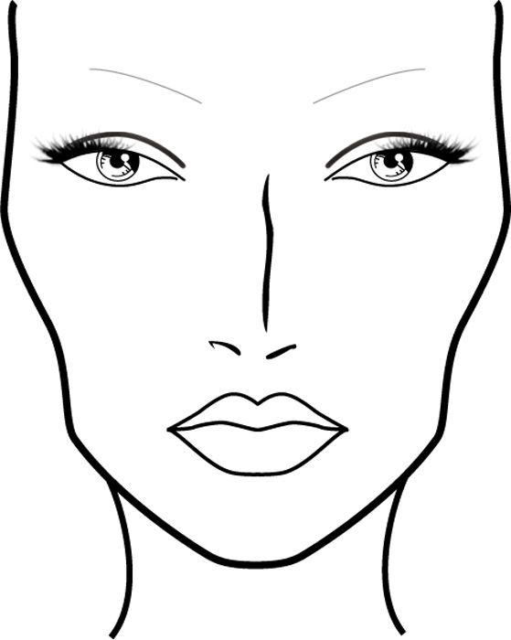 Makeup Drawing Template Free Download Best Makeup Drawing