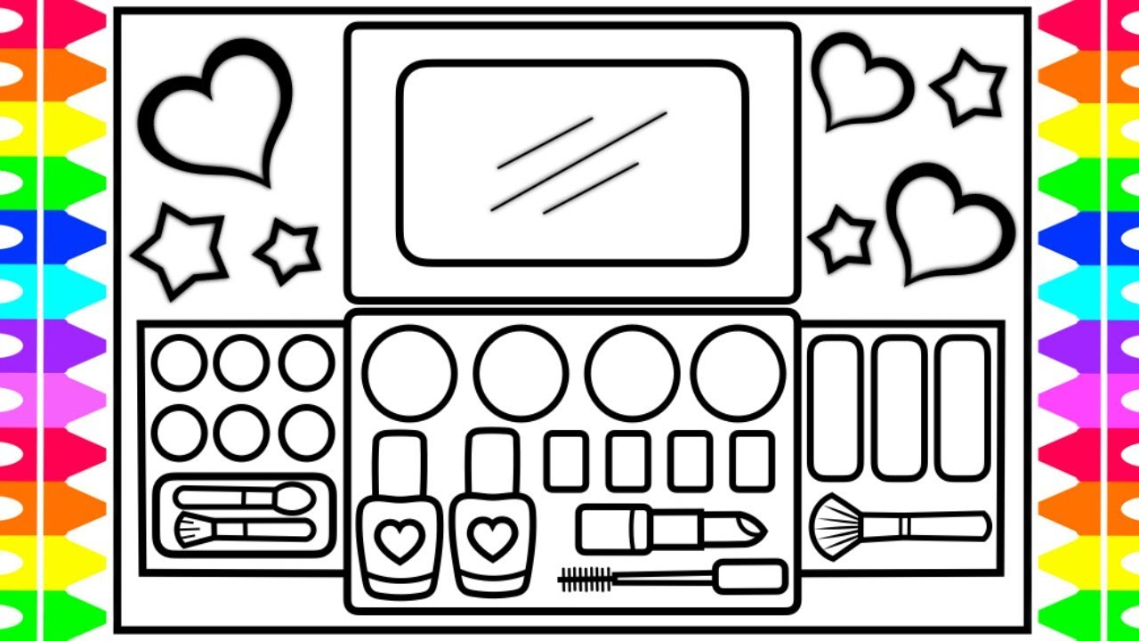 1280x720 how to draw a makeup kit for kids kit drawing