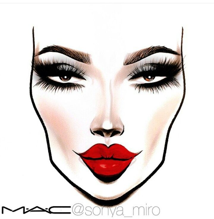720x737 mac makeup drawings saubhaya makeup