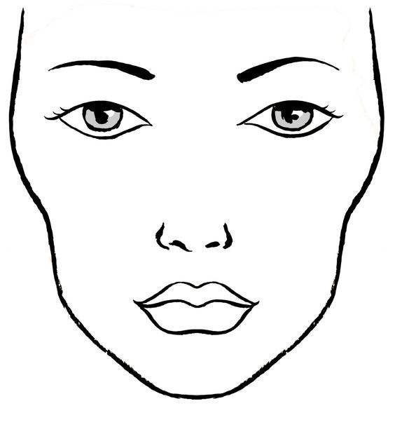Makeup Face Drawing