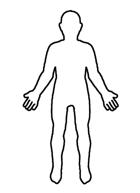 547x752 outline body printable human body outline template outline drawing