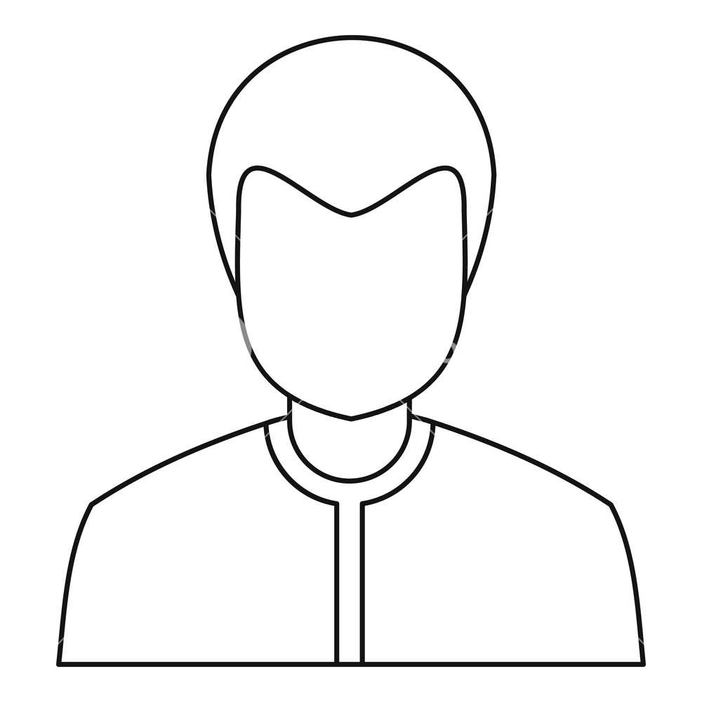 1000x1000 male avatar icon outline illustration of male avatar vector icon