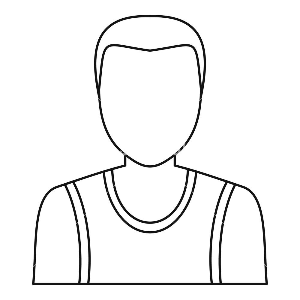 1000x1000 male avatar profile picture icon outline illustration of male