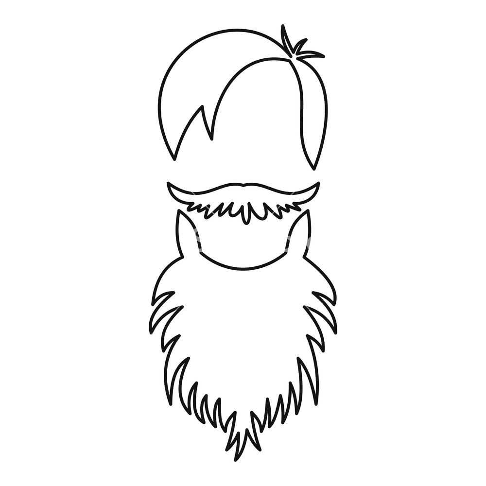 1000x1000 male avatar with beard icon outline illustration of male avatar