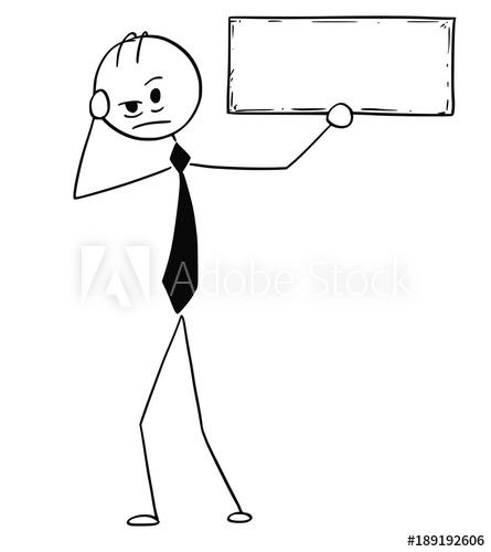 445x500 Cartoon Stick Man Drawing Conceptual Illustration Of Depressed