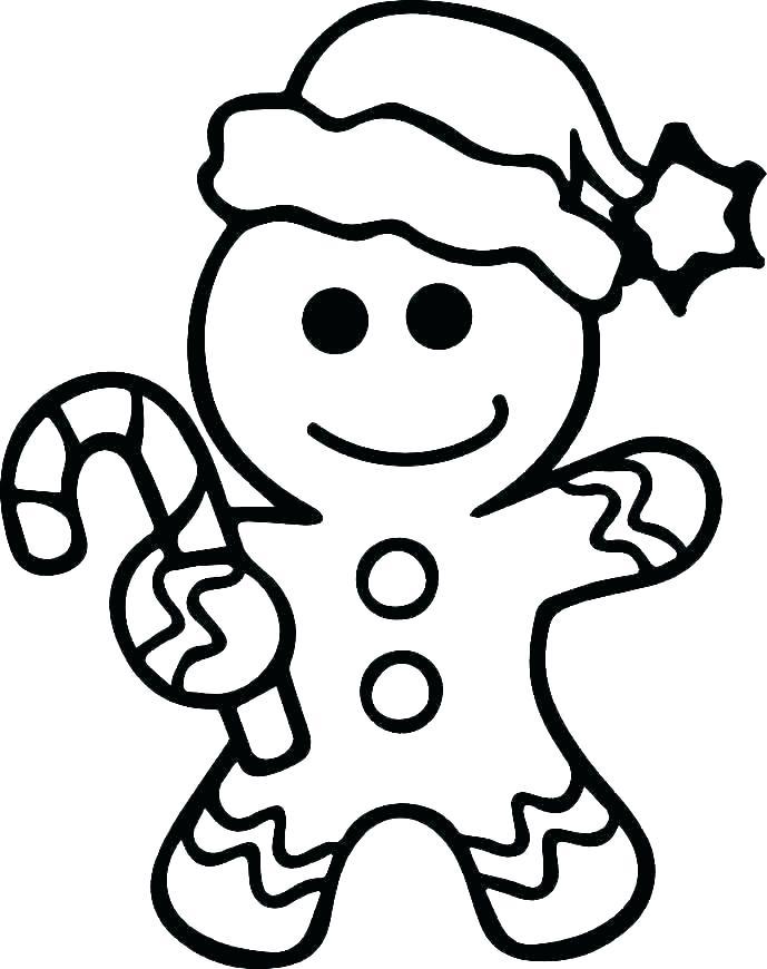 689x870 Ginger Bread Man Outline Outline Of A Gingerbread Man Gingerbread
