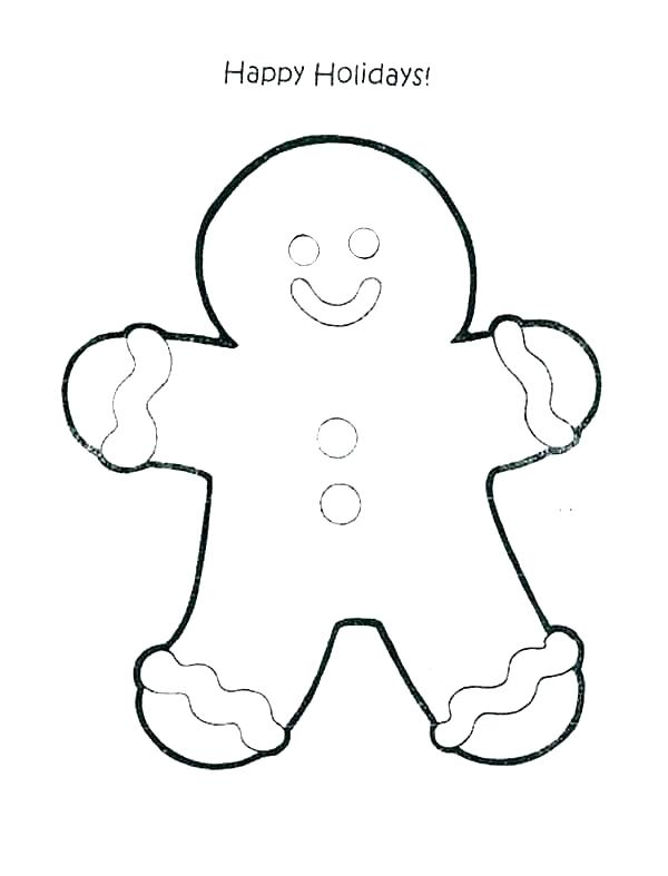 600x787 gingerbread man outline printable gingerbread gingerbread man