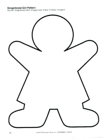 370x480 Gingerbread Men Outlines Gingerbread Man Coloring