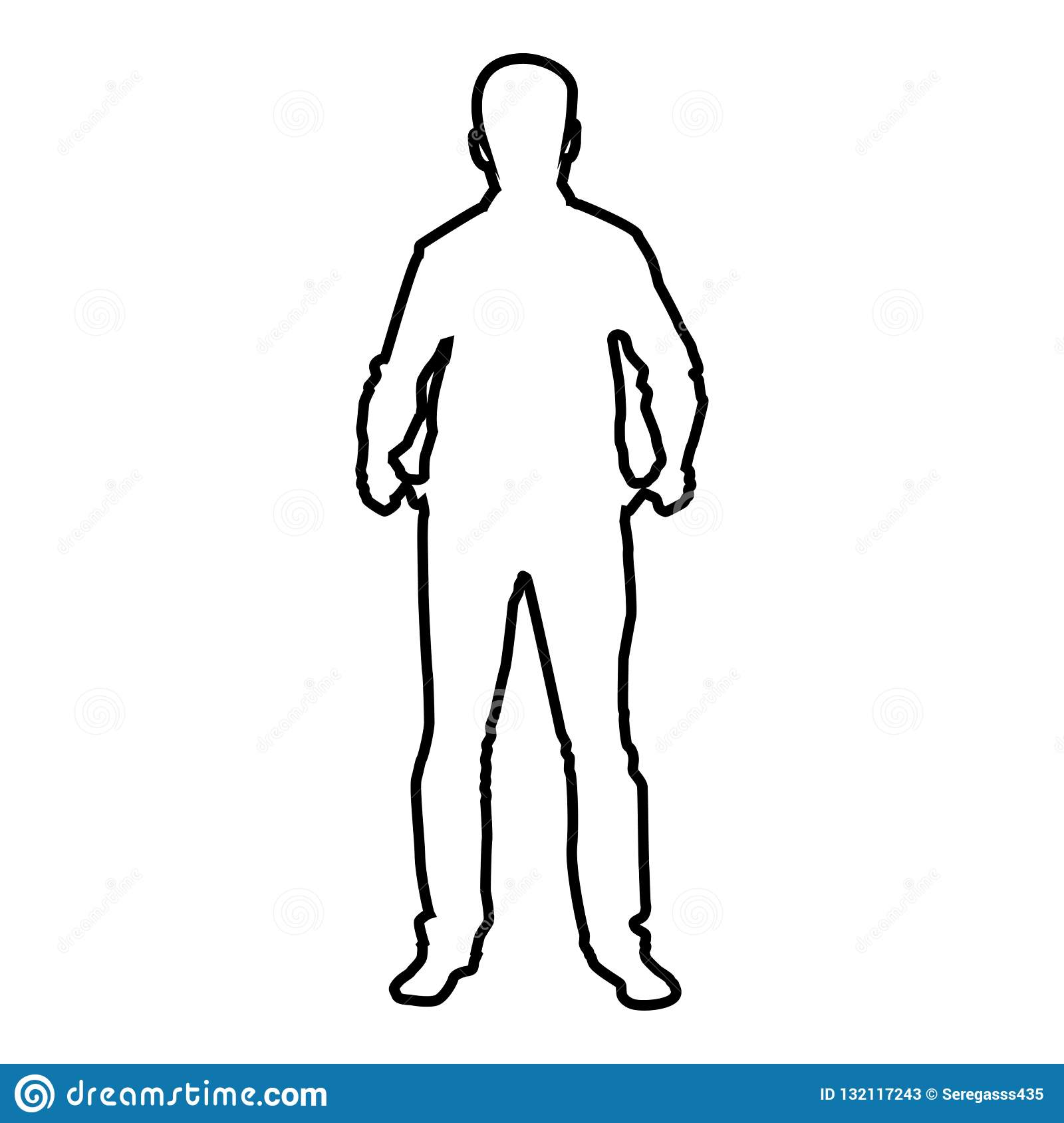 1600x1689 Huge Collection Of 'male Silhouette Outline' Download More Than