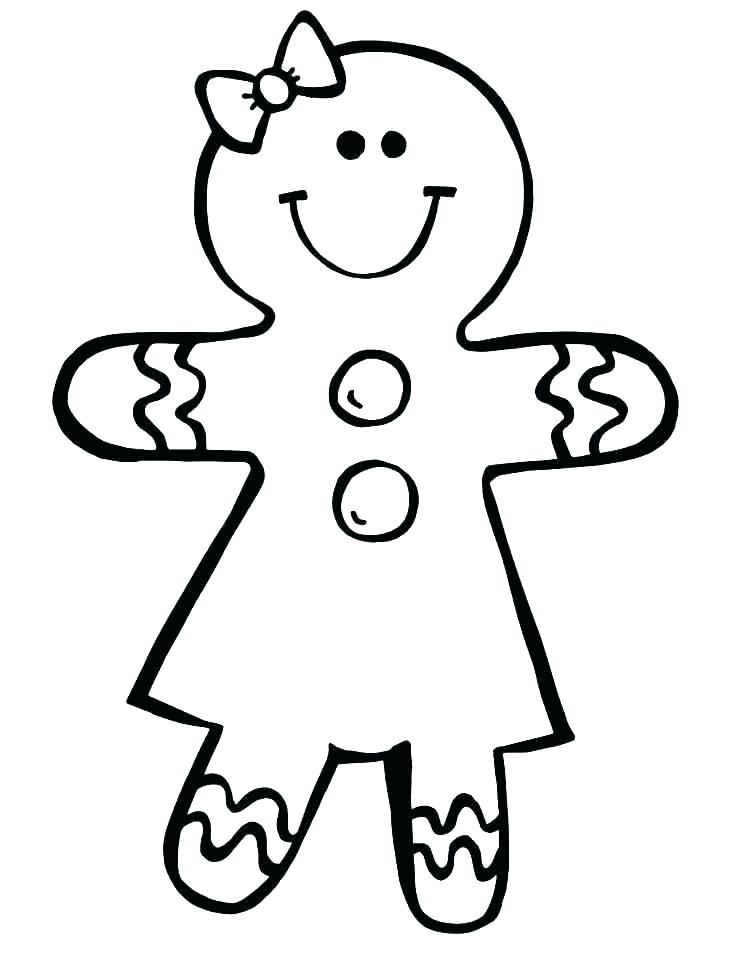 736x970 Outline Of Gingerbread Man Coloring Gingerbread Man Drawing