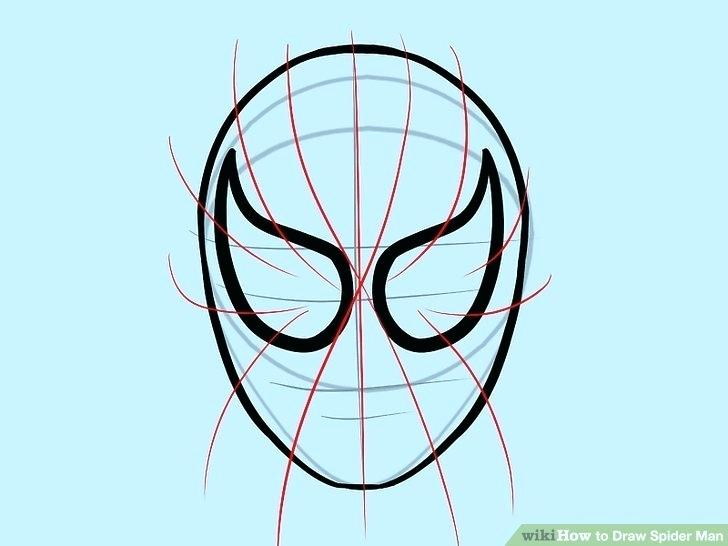 728x546 spiderman face outline face painting spiderman face outline