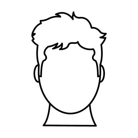 450x450 Head Outline Clipart Stock Vector Line Avatar Man Head