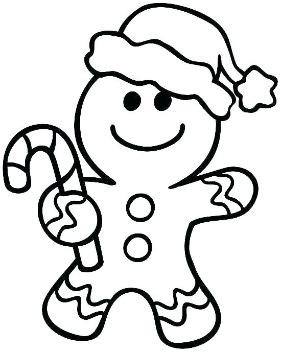 550x689 Outline Of Gingerbread Man