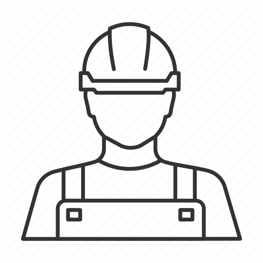 512x512 Carpenter Drawing Outline Transparent Png Clipart Free Download
